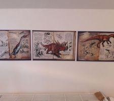 Debut deco chambre de mon fils thème aventure/dinosaure