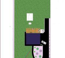 Et voici notre projet d'aménagement extérieur