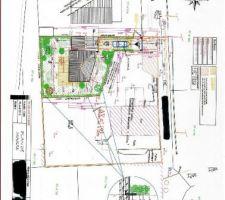 Plan de masse pour aménagement du jardin