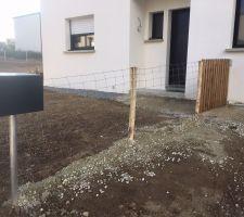Pose de la clôture et création d'un portillon