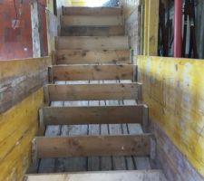 Coffrage de l?escalier