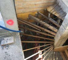 Coffrage de l?escalier, impressionnant