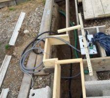 Préparation pour l'installation du portail