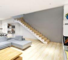 Rendu 3D de l?escalier