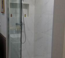 L'espace douche.