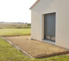 Coffrage terrasse avec pente 1cm/metre