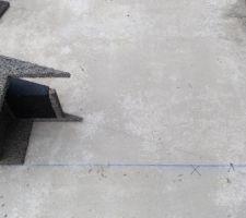 Début des pointes de pignon.  avec découpe au sol.
