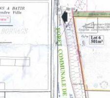 Notre terrain ( Lot 6) et l'implantation de notre future maison