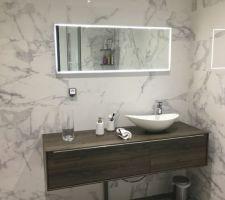 Receveur marbre 140x90