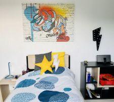 Décoration murale chambre garçon installée !