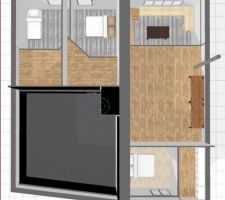 2è étage en 3D