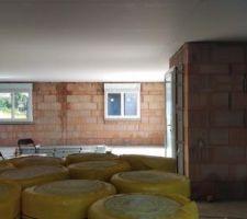 25/05/2018 : Pose des rails et plafonds placostil