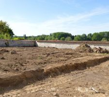 Notre terrain après avec la future terrasse