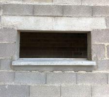 Appuis de fenêtre côté jardin fenêtre garage