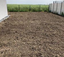 Préparation terre pour semis gazon