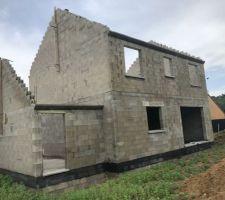 Fin de la maçonnerie  : façade arrière