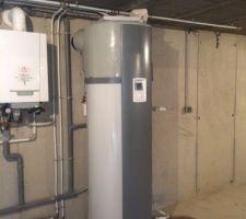 Installation chaudière gaz et ballon thermodynamique