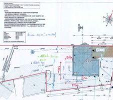 Plan masse avec implantation terrasse