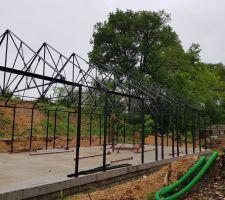 Montage de la structure le 29/05/2018