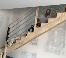 Mon escalier avant la peinture noire