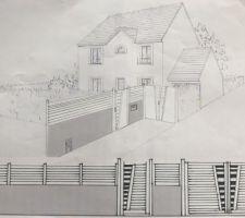 Plan de la clôture sur rue