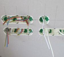 VDI l'installation du reseau, le voulant le plus possible évolutif j'ai prévu 3 RJ 45 dans le salon en grade 3 tv, avec la fibre et la tv 4 k très proche