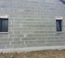 Fenêtre des deux salle de bain.
