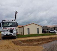 Livraison toupie beton 5m3