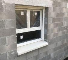 Facade nord, la fenêtre sur allége. Vous ne trouvez pas l'allège un peu haute ??