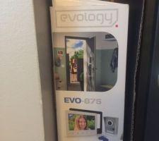 Visiophone avec caméra nocturne, 2 badges, ouverture depuis la console