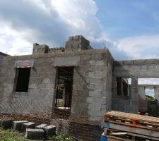 Préparation étage (façade nord)