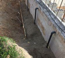 1ere etape recouvrir les tuyaux de sables