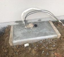 Le support pour la pompe à chaleur est fait.