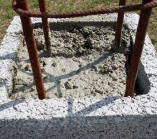 élévation des poteaux pour le portail