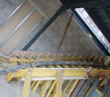 Bétonnage de l'escalier