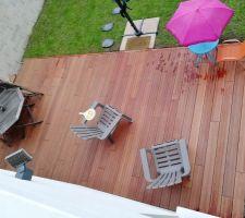 Fin de la pose de la terrasse!