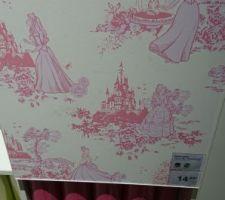 Idée tapisserie déco mur du fond pour notre fille