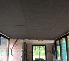 Plafond osb noir terminé