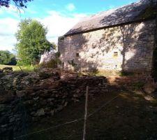 Grange  muret demonté