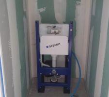 Installation des WC suspendus