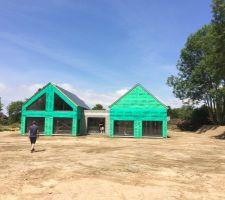 maison mixte bois maconnerie dans le calvados