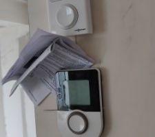 Thermostat en place