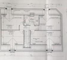 Plan étage 4 chambres