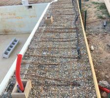 Preparation des plages - mise en place du treilli