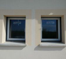 Vue de près des fenêtres (façade arrière)