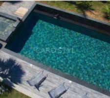 Carrelage carrostyle Bali Green pour la piscine