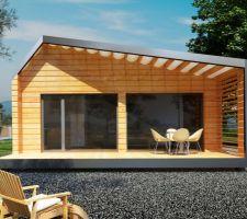 Maison ossature bois proposée par le maître d'oeuvre JM CONCEPTION