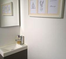 Nouvelle déco des toilettes : clin d'oeil aux potterhead...