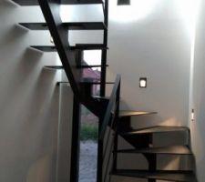 Escalier tout métal de chez les établissement Lauridant