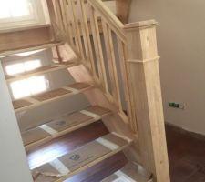 Escalier posé.